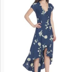 NWT Free People Lost in you blue floral dress